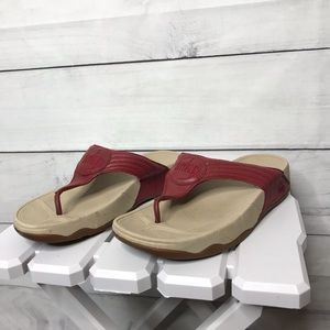 FitFlop Walkstar 3 Leather Sandals 10